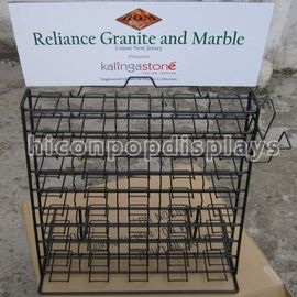 China Wire Waterfall Tile Display Racks Table Top Presentation Decorators supplier