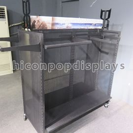 China Winter Outwear Clothing Retail Store Fixtures , Metal Shelf Racks supplier