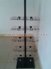 China Caps High End Metal Store Fixtures 5 Shelves Double Sided Display Stand supplier