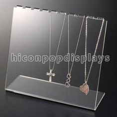 China Counter Necklace Acrylic Jewelry Holder Retail Merchandising Fixtures supplier