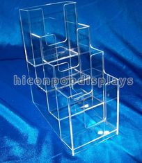 China Brochure / Leaflet 4mm Acrylic Display Case Trade Show Brochure Stands Table Top supplier