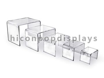 China Square Clear Acrylic Display Stands , Acrylic Display Stand For Shoes supplier