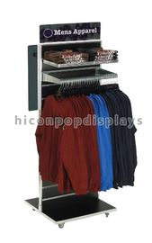 China Retail Clothing Store Fixtures Rotating Floor Display Stand Double Sided supplier
