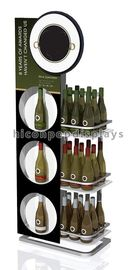 China Flooring Wine Display Stand 3 Tier Display Racks For Retail Stores supplier