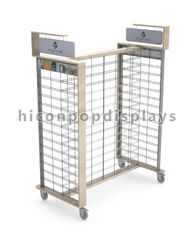 China Gridwall Flooring Display Stands Travel Outfitter Promotion Display supplier
