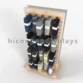 China Freestanding Slatwall Display Stands Double Sides For Smartwool Socks supplier