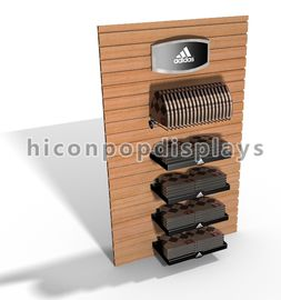 China Wall Mount Slatwall Display Units / Slatwall Caps and Hats Displays Dust Proof supplier