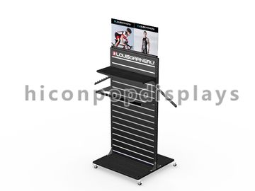 China Double Sided Slatwall Display Stands / Slatwall Floor Displays Metal supplier