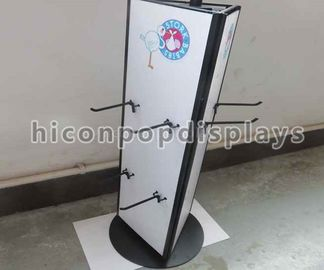 China Rotating Tabletop Display Stand , Three Sided Pyramid Display Stand supplier