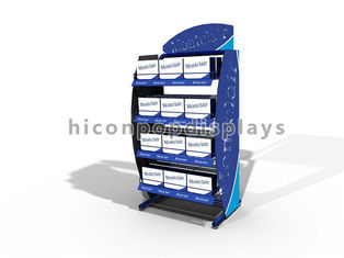 China Pharmacy Store Shelving Metal Retail Gondola Shelving With 4 Tier Wire Holder supplier