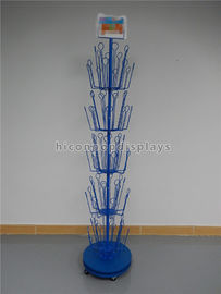 China Visual Merchandise Display Blue Metal Rotating Freestanding Puppet Toy Display Rack supplier