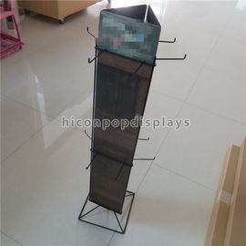 China Metal Wire Flooring Display Stands / Rotating Hanging Socks Display Rack supplier