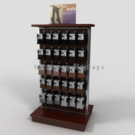 China Retail Store Fixtures Wood Slatwall Display Stands Double Sided For Footwear Products supplier