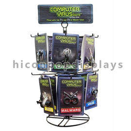 China Metal Spinner Rack Display Stand 2 - Layer Countertop Wire Rack Display With Signage supplier