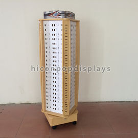 China Flooring Sunglasses Display Case Store Wood Rotating Sunglasses Display Stand supplier