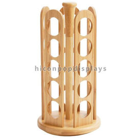 China Durable Tabletop Wooden Display Racks Custom 25 Bottles Candy / Spice Jar Rack supplier