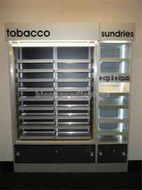 China Custom POP Merchandise Displays Floor Stand Led Lighting Cigarette Display Stand supplier