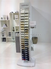 China 44 Pieces Square Quartz Tile Display Racks / Tile Show Stand For Stone Products supplier