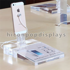 China Mobile Shop Clear Acrylic Display Rack Countertop For Smartphones Advertising supplier