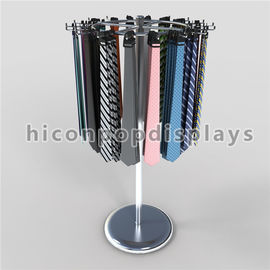 China Floor Standing Display Retail Store Metal Hanging Belt / Tie Display Racks supplier