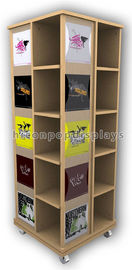 China Wooden Floor Rotating Clothing Shop Display Cabinets For Garment Retail Stores supplier