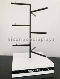 China Durable Desktop POP Merchandise Displays Sunglass Display Rod With Wood Base supplier