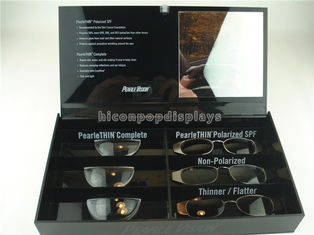 China Black Acrylic Sunglasses Display Case Countertop Visual Glasses Store Display Showcase supplier