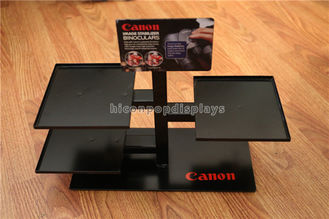 China Black Metal Counter Top Display Rack Custom Brand Binocular Camera Display Stand supplier