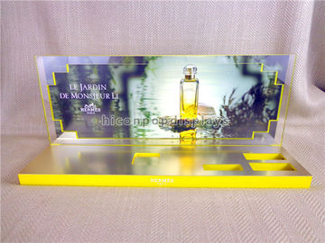 China Visual Merchandising Acrylic Perfume Display Stand Countertop For Cosmetics Shop supplier