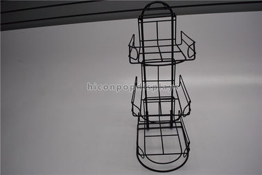China 3 Tier Detachable Table Top Metal Display Racks For Sports Products Hat Cap Retail supplier