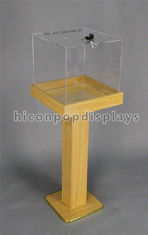 China Custom Pop Merchandise Displays Fixture Wood Acrylic Large Freestanding Display Box supplier