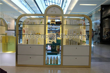 China Shopping Mall / Store Makeup Display Stands Large Cosmetic Display Shelving Unit supplier