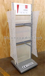 China Double Sided Retail Display Fixtures Metal Clothing Shops Display Stands supplier