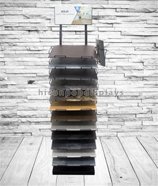 China Customized Floor Tile Display Racks Metal Stone Showroom Stand Marble Display Rack supplier