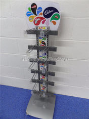 China Freestanding Metal Chocolate Sweet Display Stand 12 Hooks For Snacks Store supplier