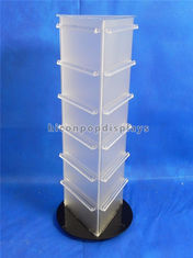 China 19'' Tall Countertop Spinner Rack Display Stand Custom Acrylic Triangular Display Stand supplier