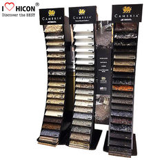 China Black Wood Metal Cambira Stone Showroom Display Stand Freestanding For Tiles supplier