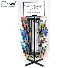 China Free Standing Rotating Retail Display Fixtures With Metal Brochure Display Rack supplier