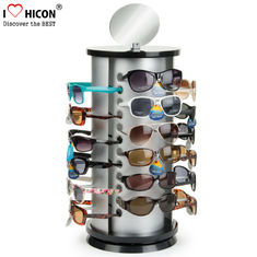 China Counter Top Sunglasses Display Rack Rotating 24 Pairs Rayban Sunglass Display Stand supplier