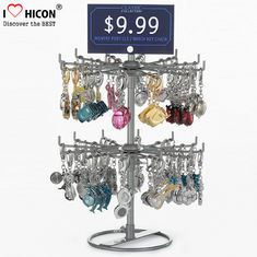 China Turnable Keychain Counter Display Racks / Retail Hanging Display Racks 2-layer supplier