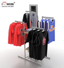 China Your Logo Clothing Store Fixtures Display Clothes Rack 4-way For Retail Store supplier