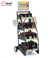 China Custom Brand Retail Store Fixtures Oil Rack Lubricant Display Motor Oil Display Stand supplier
