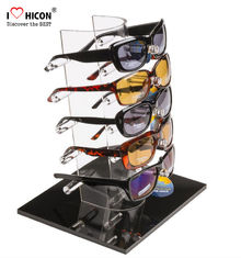 China Tabletop Acrylic Eyewear Display Rack For Brand Shop 5 Pairs Sunglasses Promotion supplier