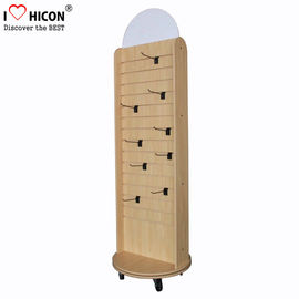 China Retail Store Display Wood Slatwall Display Stands / Racks With Hook Free Standing supplier
