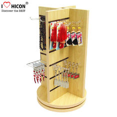 China Countertop Slatwall Display Fixtures Commercial Gifts Retail Rotating Display Stand supplier