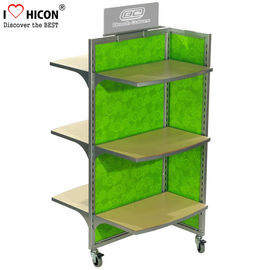 China Movable Floor Standing Retail Store Fixtures 3 - Way Wood Toy Display Shelves supplier