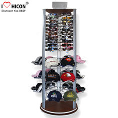 China Fashion Store Rotating Outdoor Sports Product Display Stands / Racks Wood Base supplier