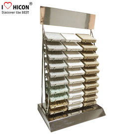 China Custom Countertop Metal Wire 30 Piece of  Marble Tiles Display Racks supplier