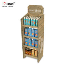 China 4 Tier Wooden Retail Display Shelves Store Fixtures Visual Merchandise supplier