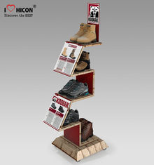 China Comfortable Inspire Shoe Store Wooden Display Racks Sneaker Display Shelves supplier